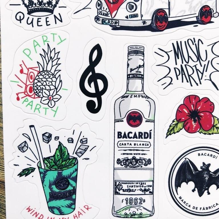 Bacardi стикер