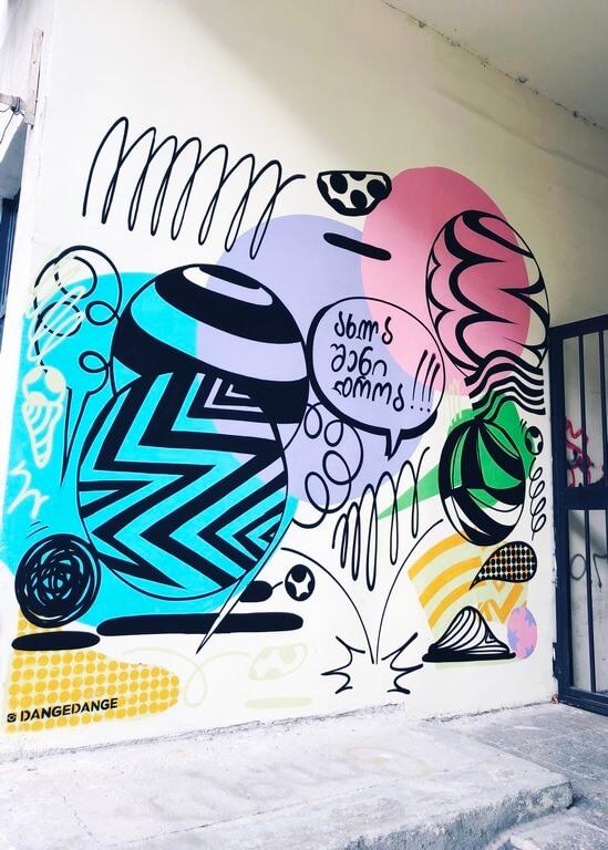 Создание граффити для кафе Cone Nation