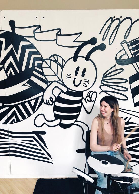 Граффити оформление в интерьере
