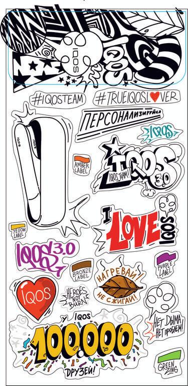 Создание рекламных стикеров для IQOS