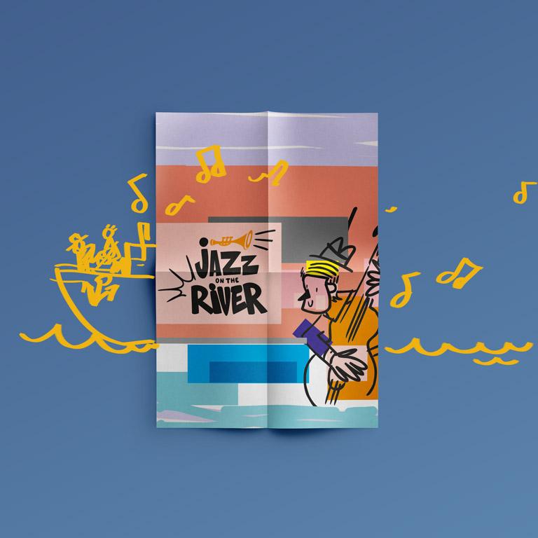 Разработка фирменного стиля для Jazz On The River