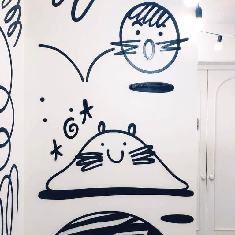 Граффити оформление фотостудии Skypoint