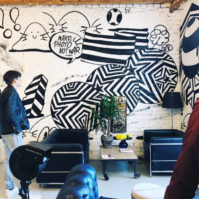 Создание граффити для фотостудии Skypoint