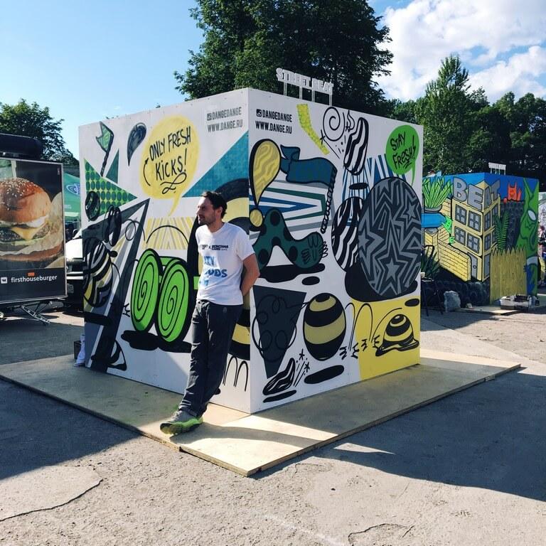 Создание граффити для магазина Street beat на фестиваль Stereoleto
