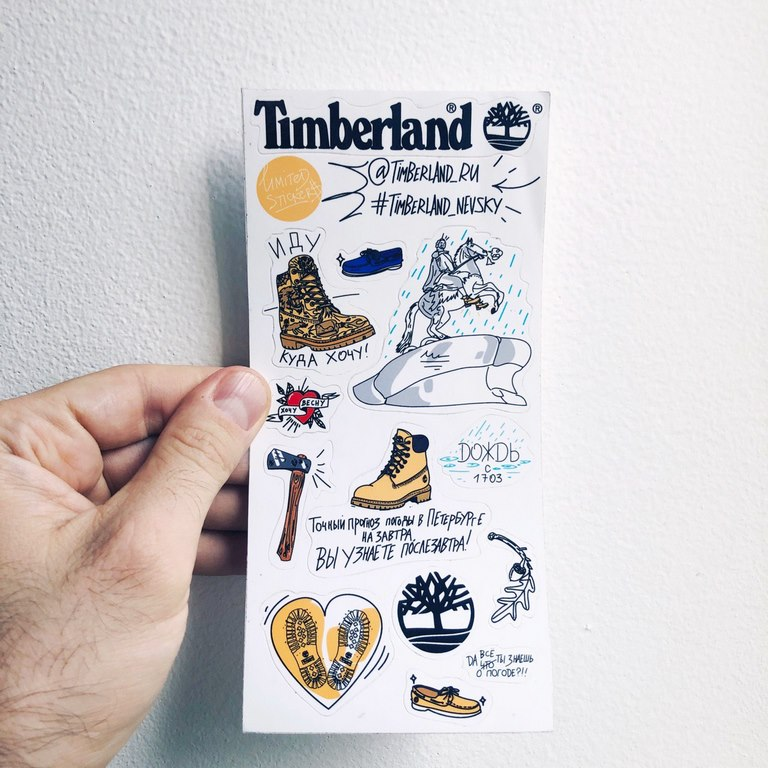 timberland stickerset