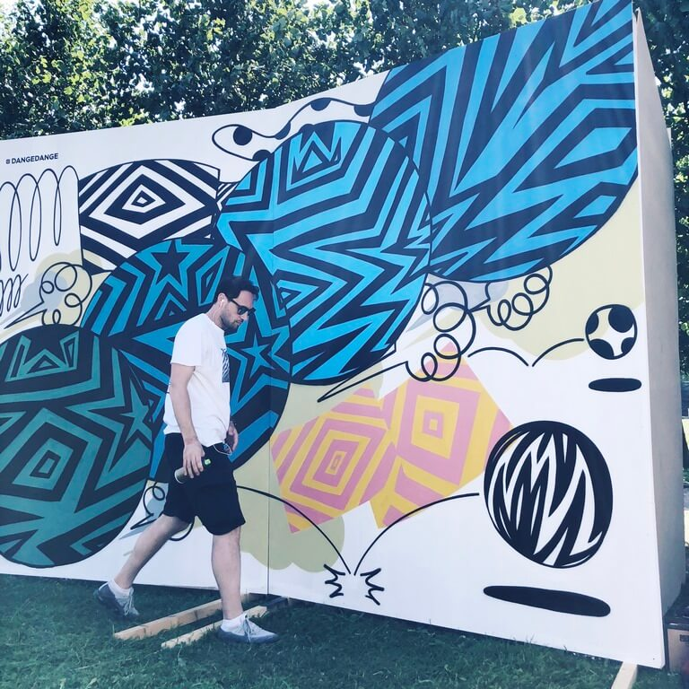 Создание граффити для Vk Fest 2018
