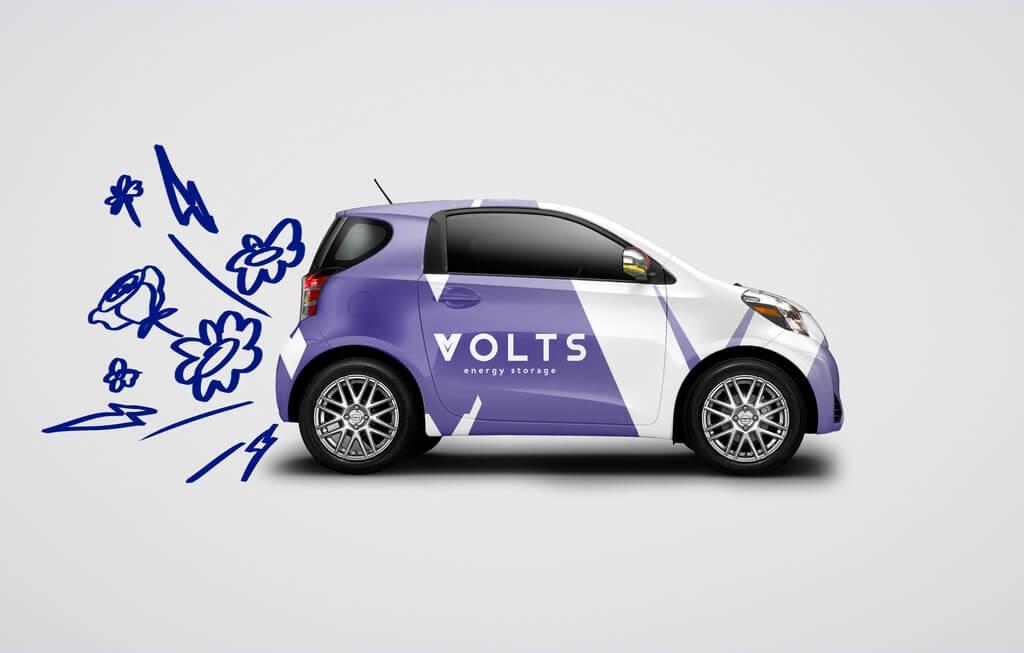 Создание фирменного стиля для Volts