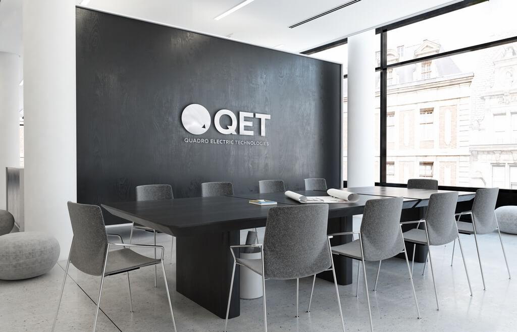 Ребрендинг фирменного стиля для QET