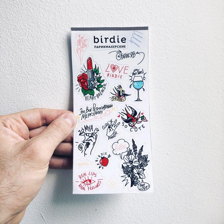 birdie stickerset