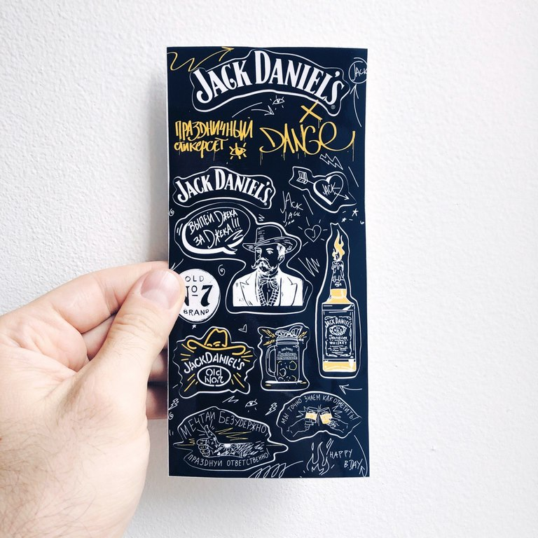 jack daniels stickerset